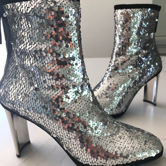 d061bf873a8 NEW Giuseppe Zanotti Sequin Ankle Boots NWT